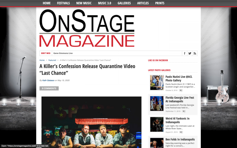 OnStage Magazine review of 'Last Chance'