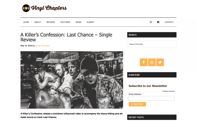 Vinyl Chapters reviews 'Last Chance' single