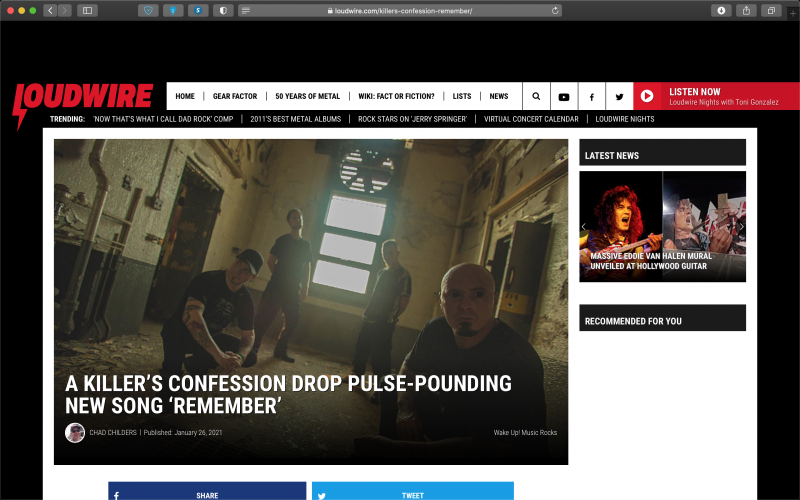 LoudWire covers AKC release: new track 'Remember'