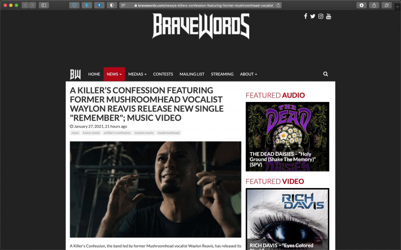 BraveWords covers AKC 'Remember' release