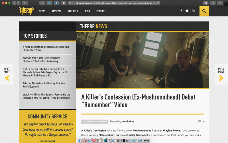 ThePRP covers A Killer's Confession new release of 'Remember'