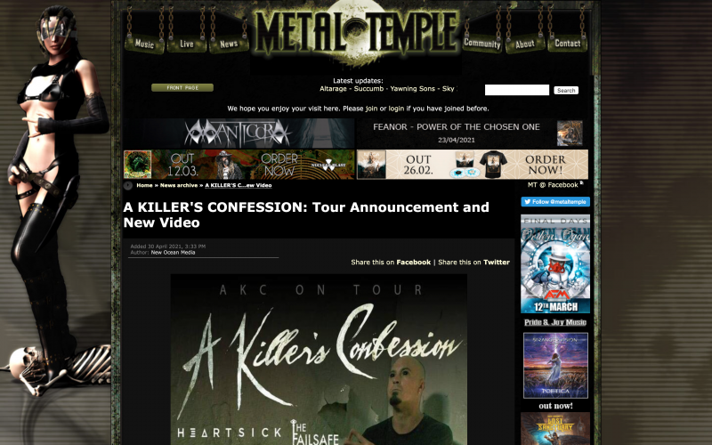 Metal Temple : AKC Release and Tour Dates!