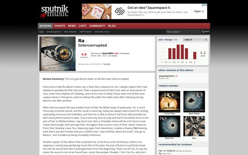 Sputnik reviews 'Intercorrupted' RA album